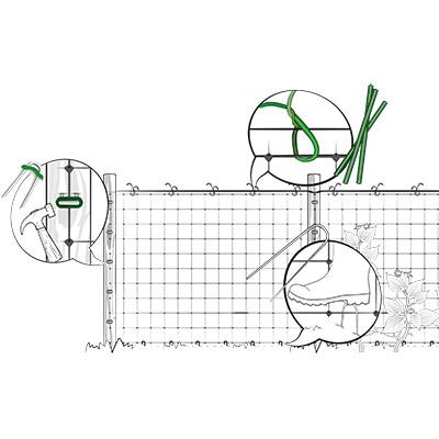 Installazione verticale rete per rampicanti - fase 1
